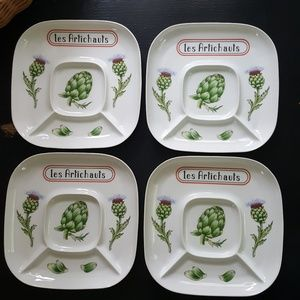 """Extremely Rare """"les Artichauts"""" Limoges Dishes"""